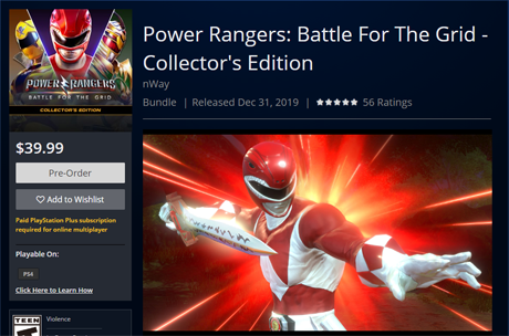 power rangers bftg collectors edition