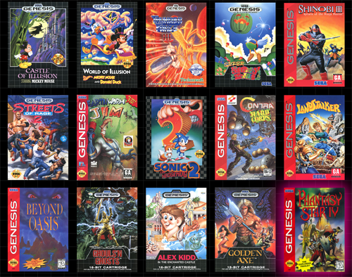 sega genesis mini games