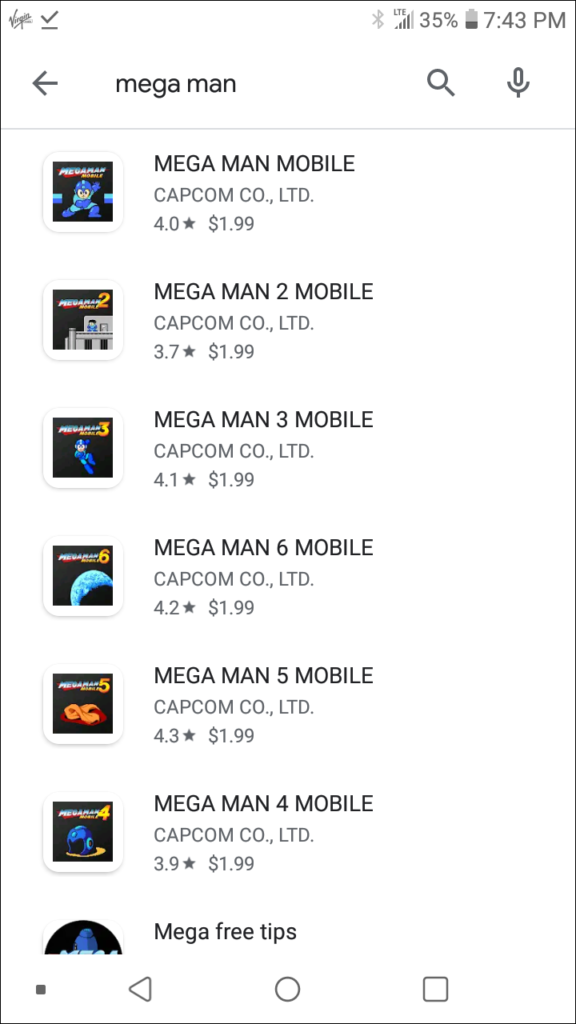 mega man play store